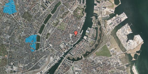 Oversvømmelsesrisiko fra vandløb på Heibergsgade 16, 3. tv, 1056 København K