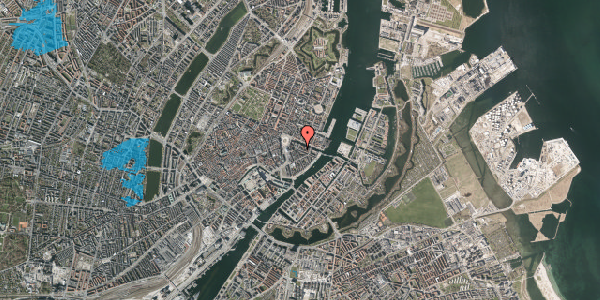 Oversvømmelsesrisiko fra vandløb på Herluf Trolles Gade 3, 5. th, 1052 København K
