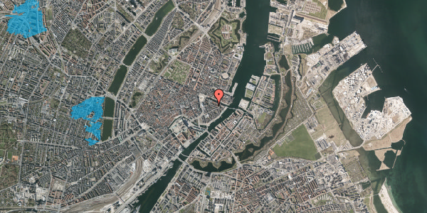 Oversvømmelsesrisiko fra vandløb på Herluf Trolles Gade 10, kl. , 1052 København K