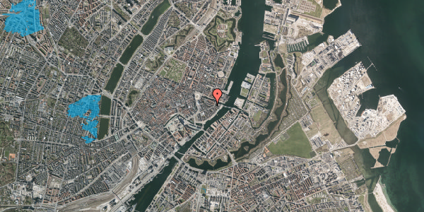 Oversvømmelsesrisiko fra vandløb på Herluf Trolles Gade 18, 2. th, 1052 København K