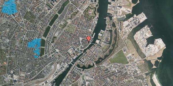 Oversvømmelsesrisiko fra vandløb på Herluf Trolles Gade 18, 3. th, 1052 København K
