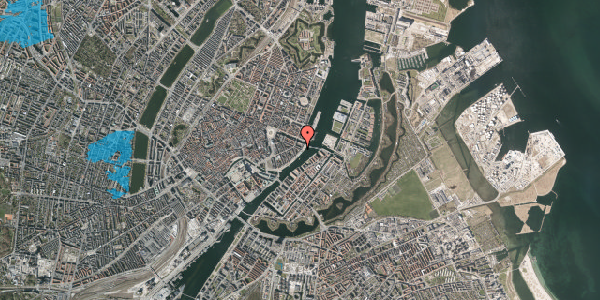 Oversvømmelsesrisiko fra vandløb på Herluf Trolles Gade 28, 2. tv, 1052 København K
