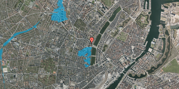 Oversvømmelsesrisiko fra vandløb på Herman Triers Plads 4, 5. tv, 1631 København V