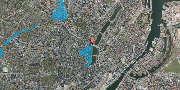 Oversvømmelsesrisiko fra vandløb på Herman Triers Plads 5, st. 2, 1631 København V