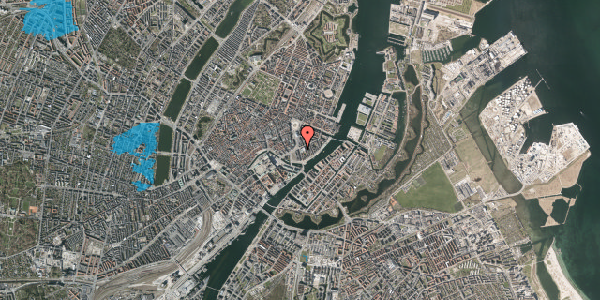 Oversvømmelsesrisiko fra vandløb på Holbergsgade 2, st. , 1057 København K