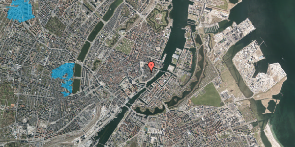 Oversvømmelsesrisiko fra vandløb på Holbergsgade 7C, st. , 1057 København K