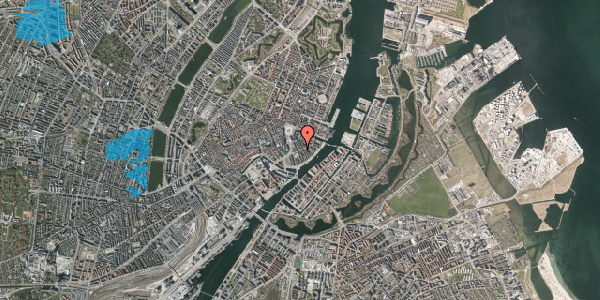Oversvømmelsesrisiko fra vandløb på Holbergsgade 7, 3. th, 1057 København K
