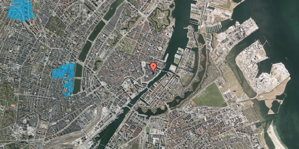 Oversvømmelsesrisiko fra vandløb på Holbergsgade 10, 2. th, 1057 København K