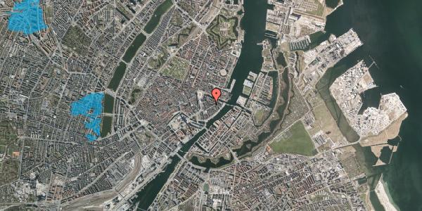 Oversvømmelsesrisiko fra vandløb på Holbergsgade 13A, 1. , 1057 København K