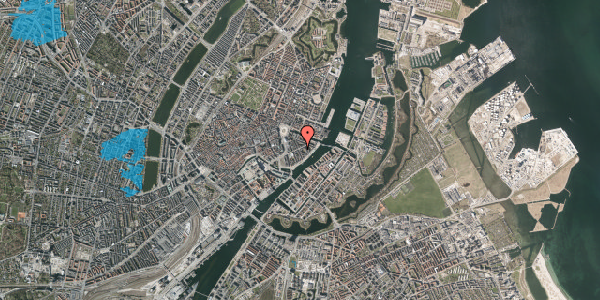 Oversvømmelsesrisiko fra vandløb på Holbergsgade 14, kl. th, 1057 København K