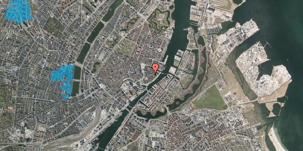 Oversvømmelsesrisiko fra vandløb på Holbergsgade 16, kl. th, 1057 København K