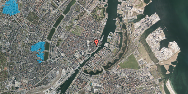 Oversvømmelsesrisiko fra vandløb på Holbergsgade 17, 4. th, 1057 København K