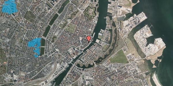 Oversvømmelsesrisiko fra vandløb på Holbergsgade 19, 1. th, 1057 København K