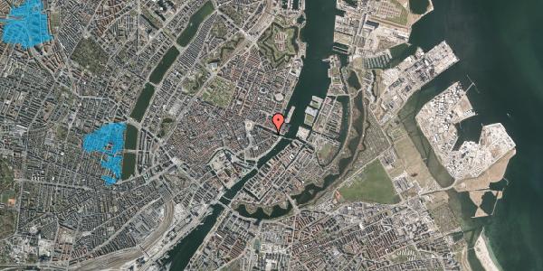 Oversvømmelsesrisiko fra vandløb på Holbergsgade 28, kl. 3, 1057 København K