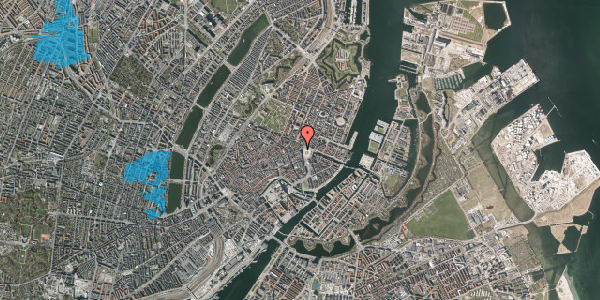 Oversvømmelsesrisiko fra vandløb på Hovedvagtsgade 2, 2. , 1103 København K