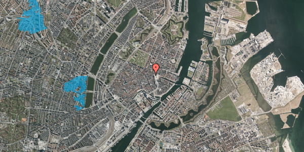 Oversvømmelsesrisiko fra vandløb på Hovedvagtsgade 4, 1. , 1103 København K