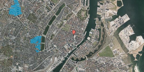 Oversvømmelsesrisiko fra vandløb på Hovedvagtsgade 6, 2. th, 1103 København K