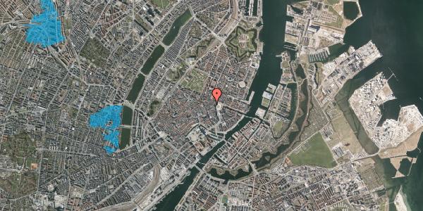 Oversvømmelsesrisiko fra vandløb på Hovedvagtsgade 6, 4. th, 1103 København K