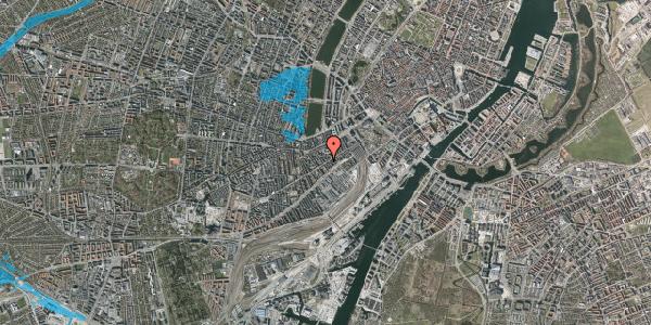 Oversvømmelsesrisiko fra vandløb på Istedgade 30B, 1. tv, 1650 København V