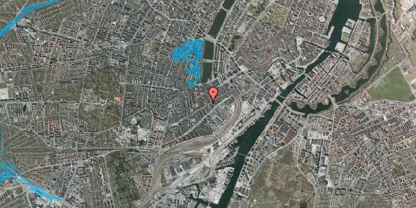 Oversvømmelsesrisiko fra vandløb på Istedgade 40B, 3. 2, 1650 København V