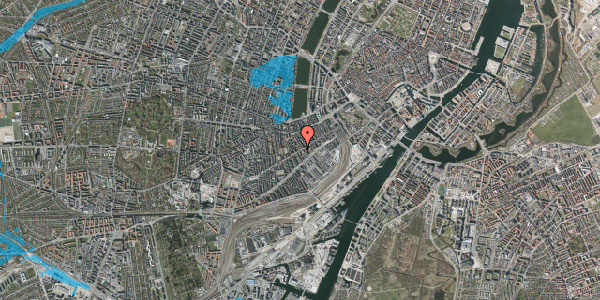 Oversvømmelsesrisiko fra vandløb på Istedgade 42A, 4. tv, 1650 København V