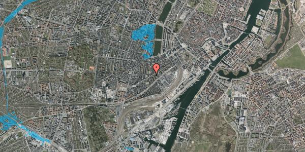 Oversvømmelsesrisiko fra vandløb på Istedgade 51B, 1. tv, 1650 København V