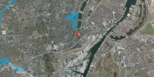 Oversvømmelsesrisiko fra vandløb på Istedgade 51B, 3. tv, 1650 København V