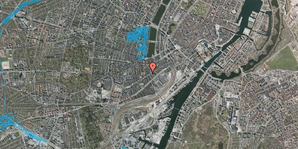 Oversvømmelsesrisiko fra vandløb på Istedgade 54, 1. tv, 1650 København V