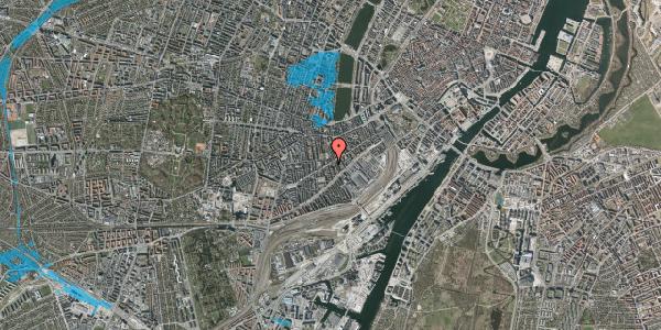 Oversvømmelsesrisiko fra vandløb på Istedgade 55, 2. th, 1650 København V