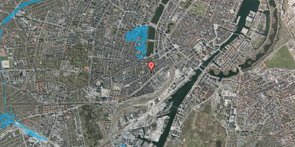 Oversvømmelsesrisiko fra vandløb på Istedgade 56B, 4. , 1650 København V