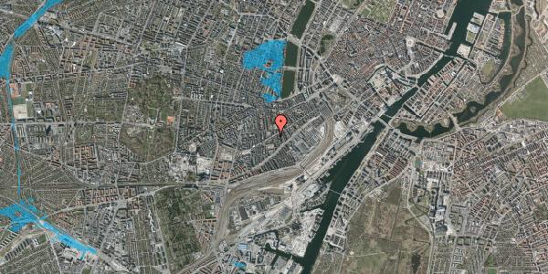 Oversvømmelsesrisiko fra vandløb på Istedgade 61, st. 2, 1650 København V