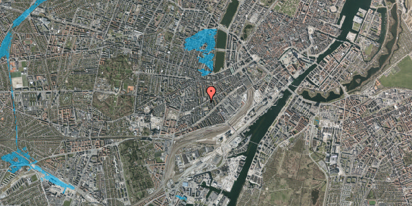 Oversvømmelsesrisiko fra vandløb på Istedgade 67, 4. th, 1650 København V
