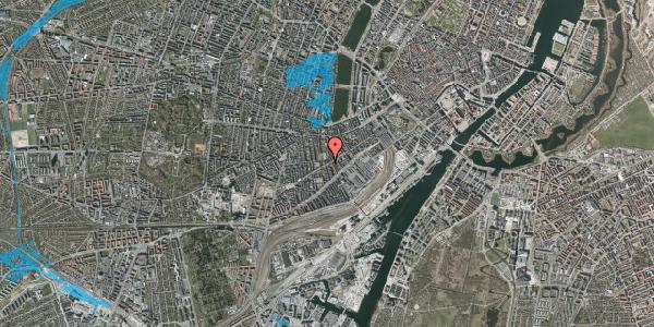 Oversvømmelsesrisiko fra vandløb på Istedgade 68, 2. th, 1650 København V