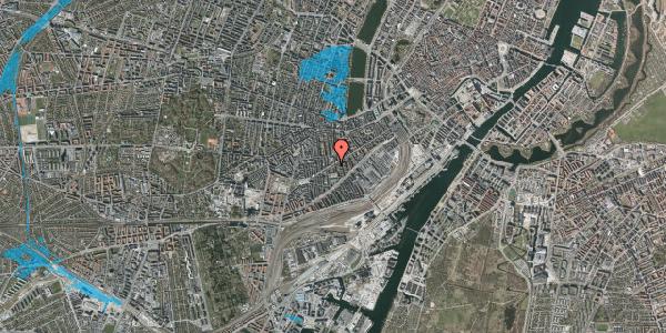Oversvømmelsesrisiko fra vandløb på Istedgade 69, st. tv, 1650 København V