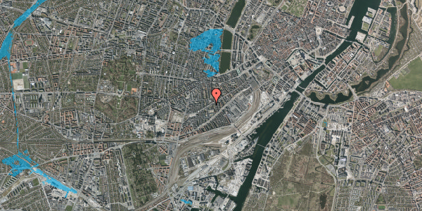 Oversvømmelsesrisiko fra vandløb på Istedgade 69, 4. tv, 1650 København V