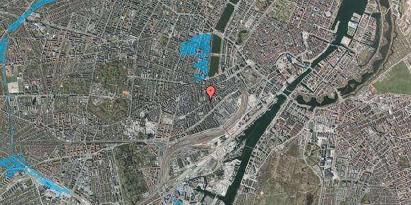 Oversvømmelsesrisiko fra vandløb på Istedgade 70, 2. , 1650 København V