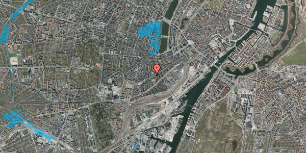 Oversvømmelsesrisiko fra vandløb på Istedgade 71, 1. th, 1650 København V