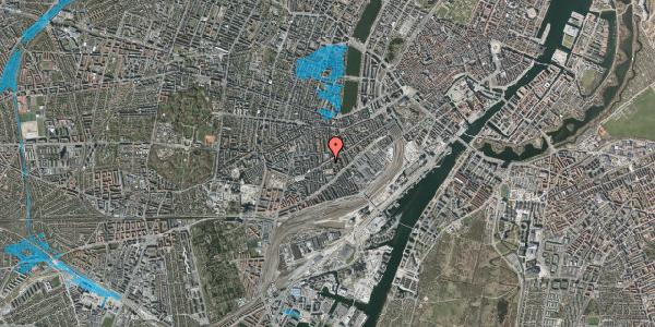 Oversvømmelsesrisiko fra vandløb på Istedgade 71, 3. tv, 1650 København V