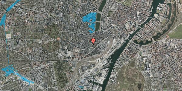 Oversvømmelsesrisiko fra vandløb på Istedgade 73, st. tv, 1650 København V