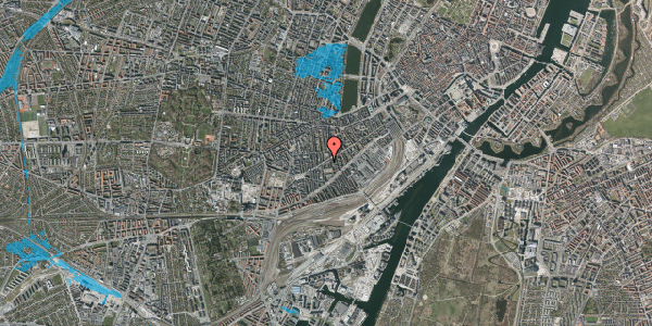 Oversvømmelsesrisiko fra vandløb på Istedgade 75, 2. th, 1650 København V