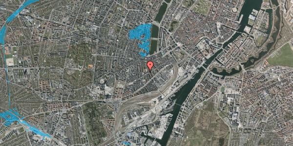 Oversvømmelsesrisiko fra vandløb på Istedgade 76, 3. , 1650 København V