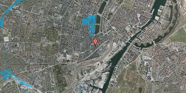 Oversvømmelsesrisiko fra vandløb på Istedgade 80, 1. th, 1650 København V