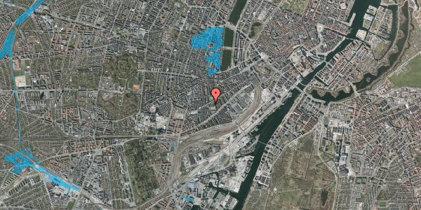 Oversvømmelsesrisiko fra vandløb på Istedgade 81B, 1. tv, 1650 København V