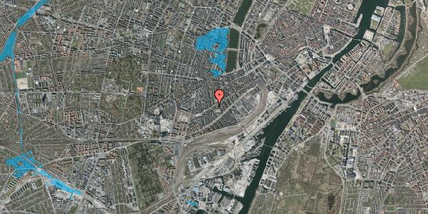 Oversvømmelsesrisiko fra vandløb på Istedgade 85, st. 1, 1650 København V