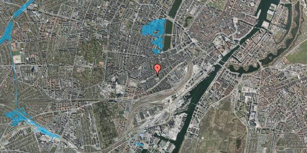 Oversvømmelsesrisiko fra vandløb på Istedgade 87, st. 1, 1650 København V