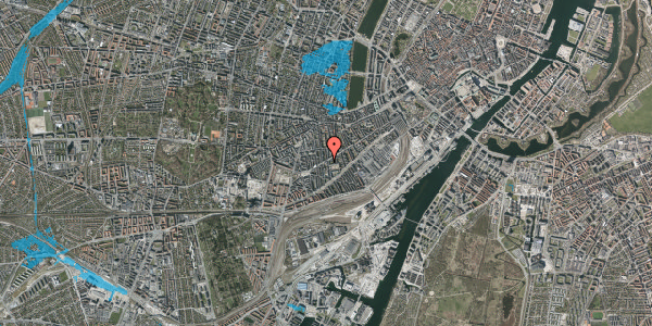 Oversvømmelsesrisiko fra vandløb på Istedgade 89, 4. tv, 1650 København V
