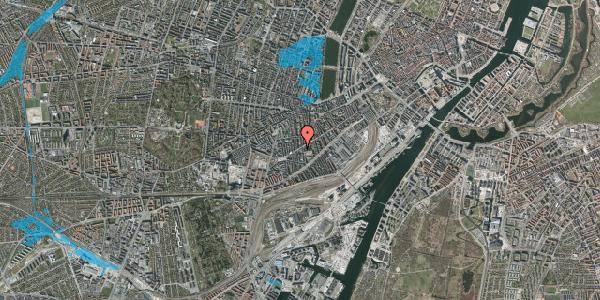 Oversvømmelsesrisiko fra vandløb på Istedgade 91, kl. th, 1650 København V