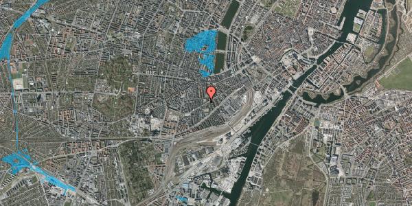 Oversvømmelsesrisiko fra vandløb på Istedgade 92, 1. th, 1650 København V