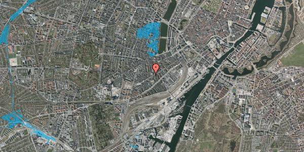 Oversvømmelsesrisiko fra vandløb på Istedgade 96, 4. tv, 1650 København V