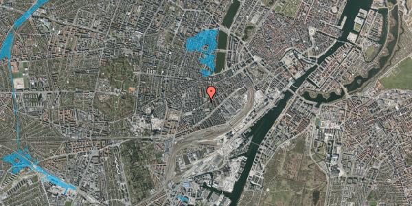 Oversvømmelsesrisiko fra vandløb på Istedgade 98, st. tv, 1650 København V